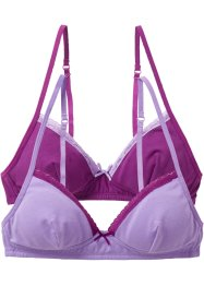 Lot de 2 soutiens-gorge, bpc bonprix collection, mauve/violine