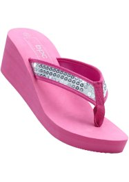 Keilpantolette, bpc bonprix collection, pink