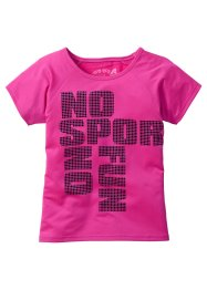 T-shirt fonctionnel, imprimé, bpc bonprix collection, rose fluo