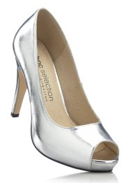 Peeptoepumps, bpc selection, silber