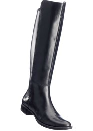 Lederstiefel, bpc bonprix collection, schwarz