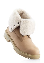 Scarponcino in pelle, bpc bonprix collection, Beige