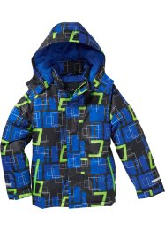 Ski Funktionsjacke, bpc bonprix collection, schwarz/azurblau/neongrün