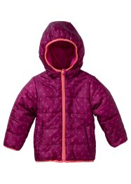 Veste réversible à capuche, bpc bonprix collection, prune imprimé/fuchsia