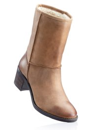 Lederstiefelette, bpc bonprix collection, braun