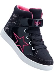 Baskets, bpc bonprix collection, noir/fuchsia