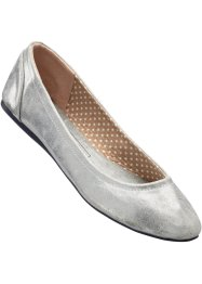 Ballerina's, bpc bonprix collection, zilverkleur metallic
