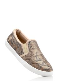 Instapschoenen, bpc bonprix collection, beige slangenprint