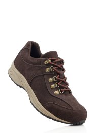 Scarpa da trekking in pelle, bpc bonprix collection, Marrone / rosso