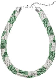 Collier bunte Perlen, bpc bonprix collection, mint/creme/silberfarben