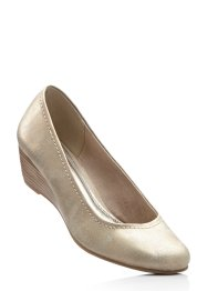 Keilpumps, Marco Tozzi, gold metallic