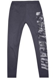 VENICE BEACH Leggings, Venice Beach, anthrazit mit Logodruck