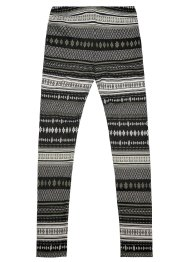 Buffalo Strickleggings, Buffalo, schwarz m.Norwegermuster