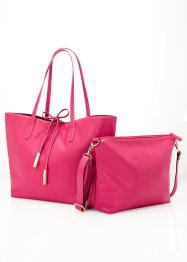 Shopper avec sa pochette, bpc bonprix collection, fuchsia