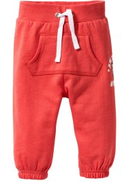 Pantalon sweat bébé en coton bio, bpc bonprix collection, capucine/gris clair chiné