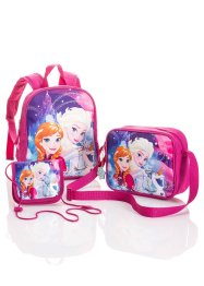 Set cartables enfant Reine des Neiges, bpc bonprix collection, lilas imprimé