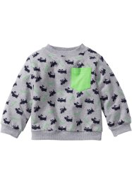 Sweat-shirt bébé en coton bio, bpc bonprix collection, gris clair chiné