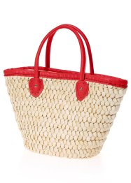 Cabas de plage, bpc bonprix collection, beige/rouge