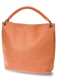 Shopper tressé, bpc bonprix collection, cognac