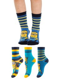 """MINIONS"" Socken (3er-Pack), Despicable Me 2, blau/gelb"