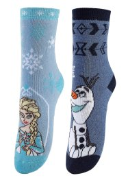 "Socken ""FROZEN"" (2er-Pack), bpc bonprix collection, blau/grau/weiß"