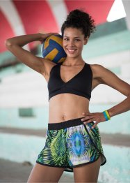 Shorts curto esportivo estampado