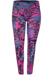 Legging fitness animal print, rosa estampado