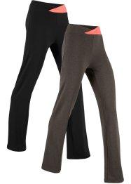 Stretch-Sporthose, 2-er Pack, lang, Level 1, bpc bonprix collection