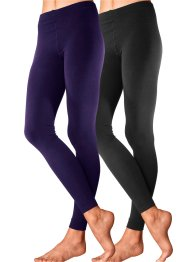Lavana Thermoleggings (2er-Pack), LAVANA, schwarz + lila