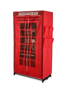 "Kleiderschrank ""Telephone"", Home Collection, rot"