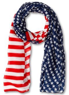 Foulard Drapeau, bpc bonprix collection, rouge/bleu