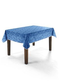 """Abwaschbare Tischdecke """"Marble"""" (1er-Pack), bpc living, blau"""