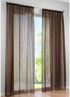 gardinen vorh nge in braun angesagte wohntrends bei bonprix. Black Bedroom Furniture Sets. Home Design Ideas