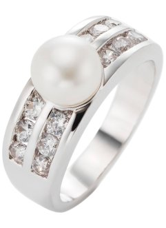 "Ring ""Perle"", bpc bonprix collection, silberfarben/champagner"