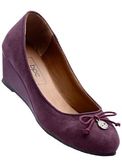 Keilballerina, bpc bonprix collection, aubergine