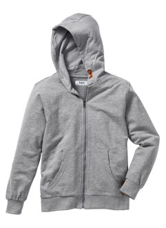 Gilet sweat, bpc bonprix collection, gris clair chiné