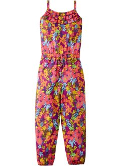 Jumpsuit, bpc bonprix collection, mörk magenta, blommig