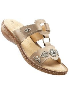 Lederpantolette, bpc bonprix collection, camel