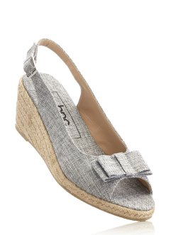 Keilsandalette, bpc bonprix collection, grau