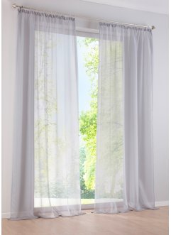 traumhafte gardinen vorh nge in silber bei bonprix. Black Bedroom Furniture Sets. Home Design Ideas