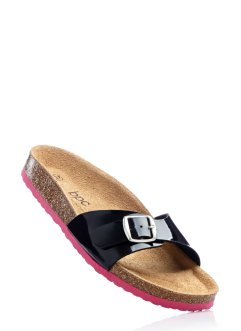 Pantolette, bpc bonprix collection, schwarz/pink