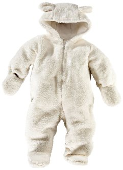 Baby Teddyfleece Overall, bpc bonprix collection, cremeweiss