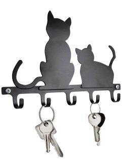 """Schlüsselboard """"Katzen"""", bpc living, schwarz"""