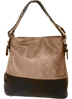 Shopper, bpc bonprix collection, cappuccino/schwarz