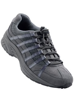 Ledertrekkingschuh, bpc bonprix collection, grau