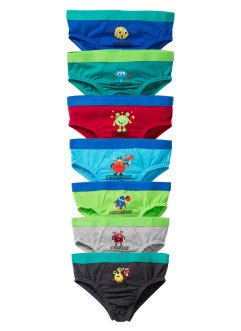 Lot de 7 slips, bpc bonprix collection, multicolore