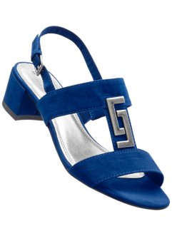 Sandalette, bpc bonprix collection, blau/silber