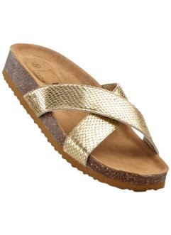 Pantolette, bpc bonprix collection, gold