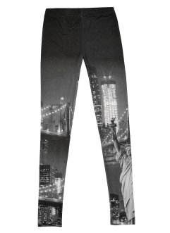 Buffalo Leggings, Buffalo, Druck New York