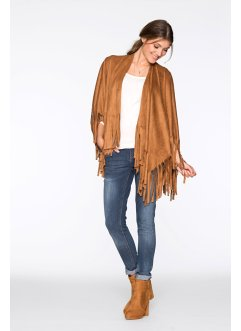 Poncho mit Fransen, bpc bonprix collection